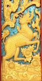 thai vägg för dörrstiltextur Arkivbilder