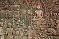 thai vägg för konststil Royaltyfri Fotografi