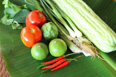 Thai vegetable and egg for cooking Royalty Free Stock Images