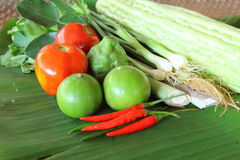 Thai vegetable and egg for cooking Stock Image