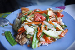 Thai vegetable meal. Royalty Free Stock Images