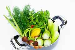 Thai vegetable mix. Fresh vegetable  mix with mushroom Royalty Free Stock Image