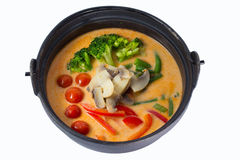 Thai vegetable soup Royalty Free Stock Photos
