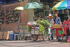 Thai vegetable vendor Stock Photo