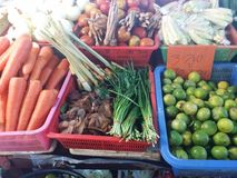Thai vegetables market. Vegetables at a thai market Royalty Free Stock Photos