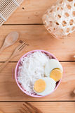 Thai vermicelli eaten with curry Royalty Free Stock Image
