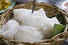 Thai vermicelli eaten with curry (Ka-nom-geen) Royalty Free Stock Image