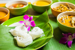 Thai vermicelli eaten with curry Royalty Free Stock Photography