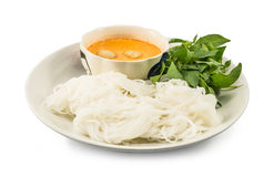 Thai vermicelli eaten with curry Stock Image