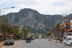 Thai village. City center of Ao Nang, Thailand Royalty Free Stock Photos