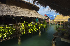 Thai village on the water Stock Photos