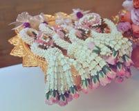 Thai Vintage garland Flowers. Thai garland Flowers jasmine and roses corolla crown flower Stock Images