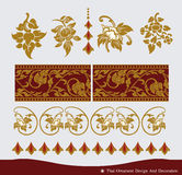 Thai vintage Ornament and pattern design. Royalty Free Stock Image