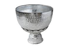 Thai vintage pattern silver bowl Royalty Free Stock Images