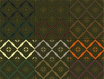 Thai vintage seamless pattern vector abstract background. 12 patterns vector illustration
