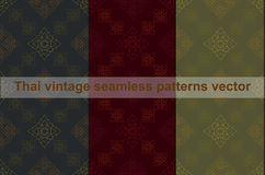 Thai vintage seamless pattern vector abstract background Stock Photography