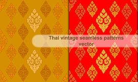 Thai vintage seamless patterns vector abstract background Stock Photo