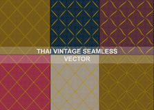 Thai vintage seamless patterns vector abstract background. With seamless patterns in swatch vector illustration