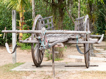 Thai Vintage Wooden Cart Royalty Free Stock Photography