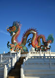 Thai viwe and dragon Royalty Free Stock Images