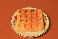 Thai waffle on the dish Stock Photography