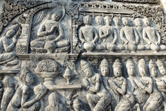 Thai wall bas-relief Stock Images