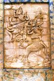 Thai wall sculpture Royalty Free Stock Photography