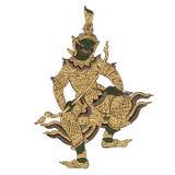 Thai warrior demon illustration Royalty Free Stock Images