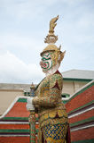 Thai warrior statue Stock Photography