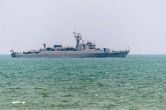 Thai Warships Moored in Sea Stock Photography