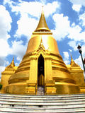 Thai wat. A golden wat temple in thailand Royalty Free Stock Image