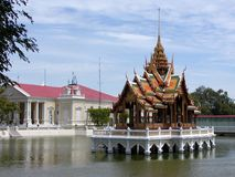 Thai Water Temple royalty free stock photos