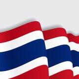 Thai waving Flag. Vector illustration. Stock Photo