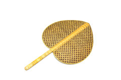 Thai weaved bamboo fan isolated Royalty Free Stock Images