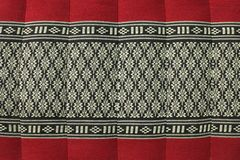 Thai weaver frabic pillow Royalty Free Stock Image