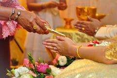Thai wedding. Buddhist culture Stock Photos