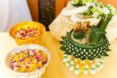 Thai wedding. Bowl of betel nuts use for Thai wedding ceremony Royalty Free Stock Photography