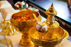 Thai wedding accessory in wedding. Ceremony day Royalty Free Stock Photography