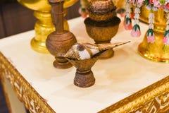 Thai wedding ceremony. A beatiful Thai wedding ceremony Royalty Free Stock Photo