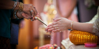Thai wedding ceremony Royalty Free Stock Photo