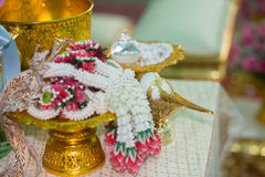 Thai Wedding ceremony. Decoration object and artifacts Traditional Thai Wedding ceremony Stock Photography