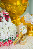 Thai Wedding ceremony. Decoration object and artifacts Traditional Thai Wedding ceremony Royalty Free Stock Photography