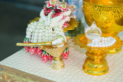 Thai Wedding ceremony. Decoration object and artifacts Traditional Thai Wedding ceremony Stock Photos