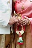 thai wedding culture wearing thai dress Royalty Free Stock Image