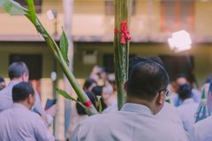 Procession of the groom`s parents. royalty free stock image