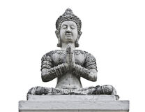 Thai white angle statue Stock Image