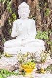 Thai white buddha statue Stock Photography