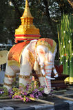 Thai white elephant Royalty Free Stock Image