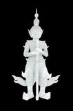 Thai white giant statue Stock Images