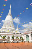 Thai white pagoda Stock Photography